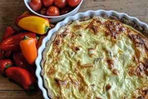 tærte bagt med olivenolie